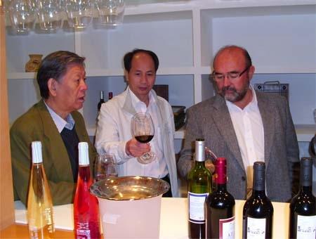 En la Bodega, degustacion con empresarios Chinos